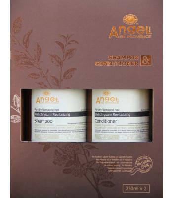 Zestaw do włosów suchych i zniszczonych z ekstraktem z kocanki (szampon 250ml, odżywka 250ml)